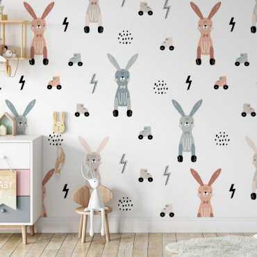 roller rabbits tapeta dla dzieci