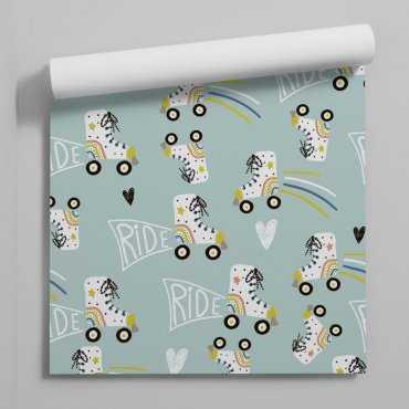roller riders tapeta dla dzieci