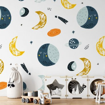 space is here tapeta dla dzieci