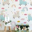 unicorn alpaka tapeta dla dzieci