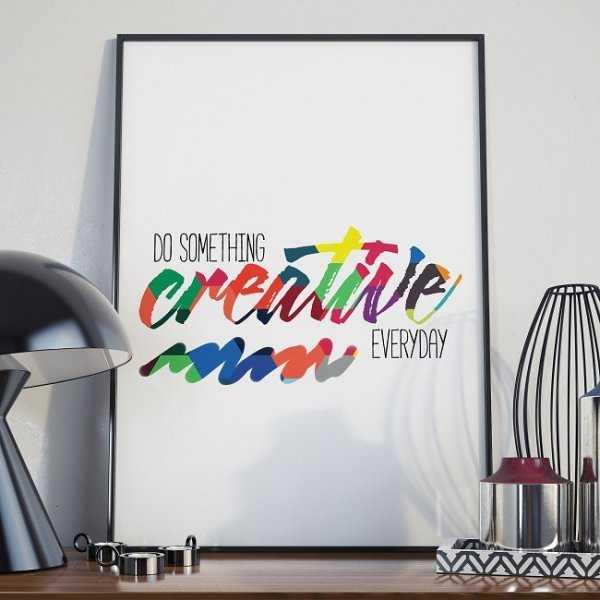 DO SOMETHING CREATIVE TODAY - Plakat w ramie