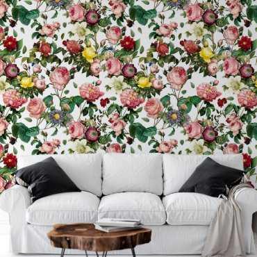 tapeta na scianę abundant garden