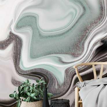 tapeta na scianę - artistic mint