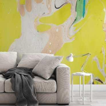 tapeta na ścianę artistic yellow