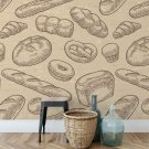 bakery design tapeta na ścianę