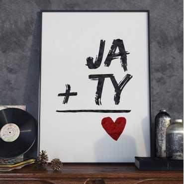 JA i TY - Plakat Typograficzny