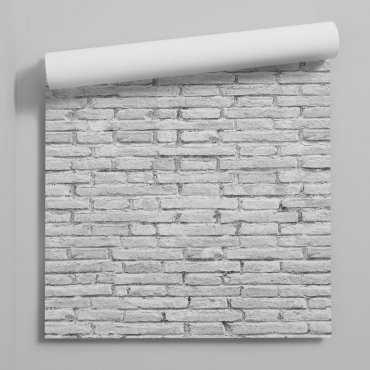 tapeta na ścianę w białą cegłe