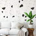 tapeta black and white terazzo