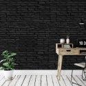 black bricks tapeta czarna cegła