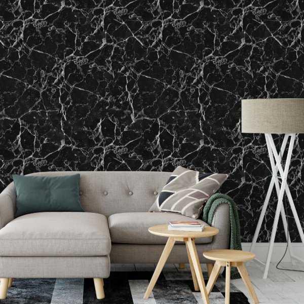 tapeta na ścianę black marble