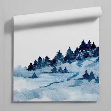 tapeta na ścianę blue forest