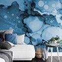 tapeta na ścianę blue splash
