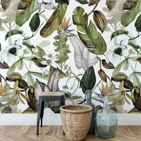 tapeta na ścianę bright greenery