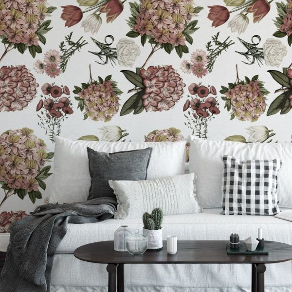 british flowers tapeta w kwiaty