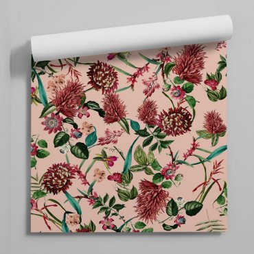 tapeta ścienna burgundy flowers
