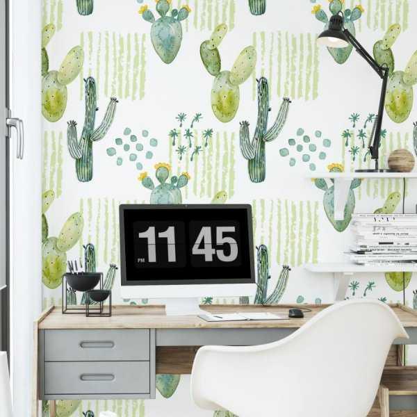 tapeta na ścainę cactus patchwork