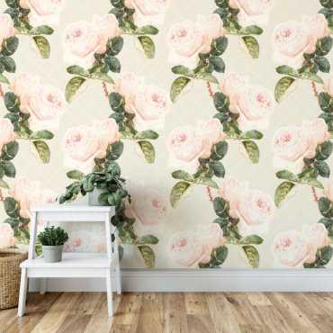 tapeta na ścianę charming roses