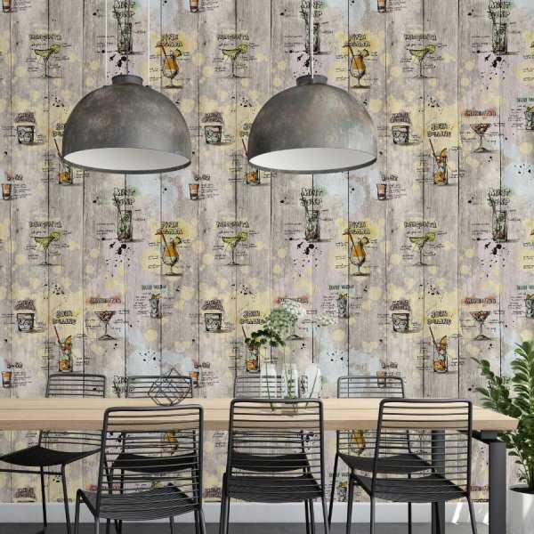 tapeta na ścianę cocktail art