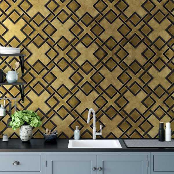 tapeta na ścianę crossy gold