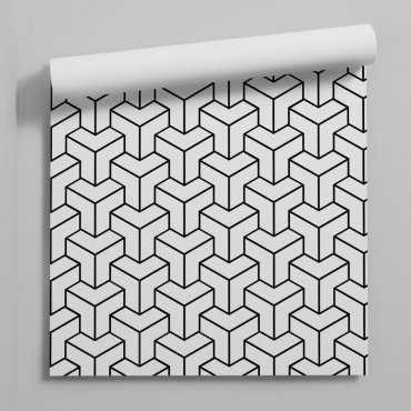 cubic tower tapeta geometryczna