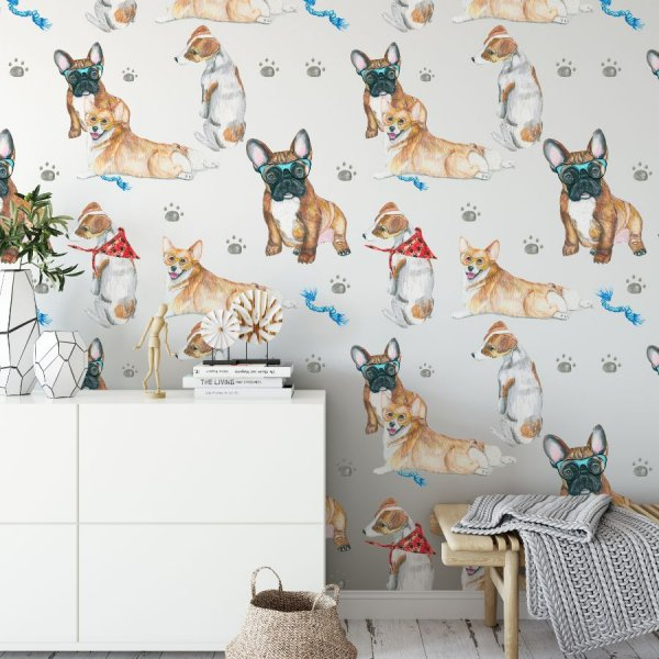 dog lovers tapeta na ścianę