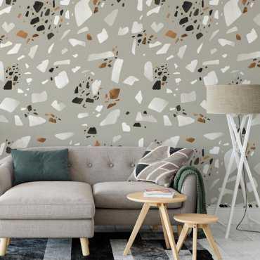 tapeta na ścianę elegant terrazzo