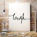 LAUGH - Minimalistyczny Obraz na płótnie