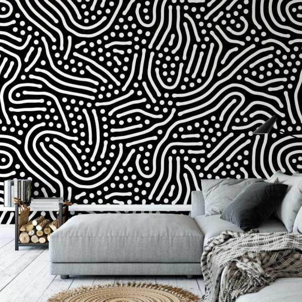 fingerprints design tapeta na ścianę