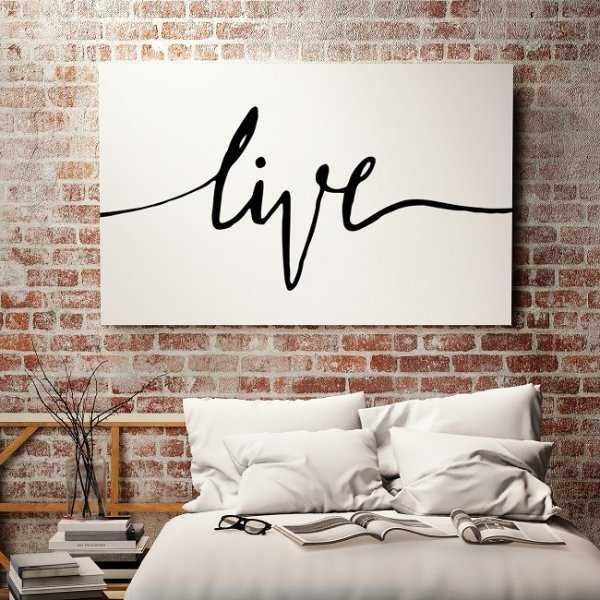 LIVE - Minimalistyczny Obraz na płótnie
