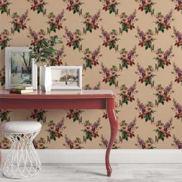 tapeta na ścianę floral retro