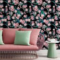 flowers in the dark tapeta w kwiaty