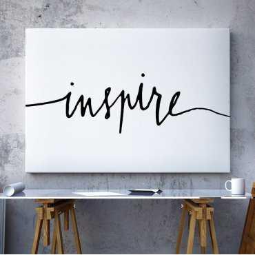 INSPIRE - Minimalistyczny Obraz na płótnie