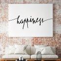 HAPPINESS - Minimalistyczny Obraz na płótnie