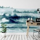 forest watercolor tapeta na scianę