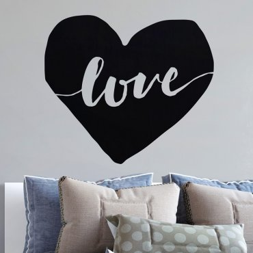 SERCE LOVE - Naklejka ścienna