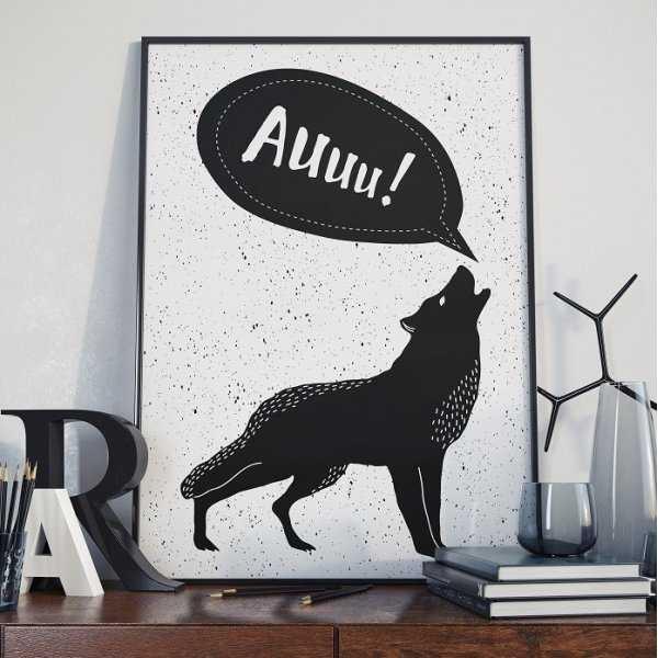 Auuu! - Plakat designerski