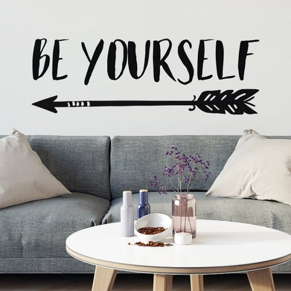 BE YOURSELF - Autorska naklejka ścienna