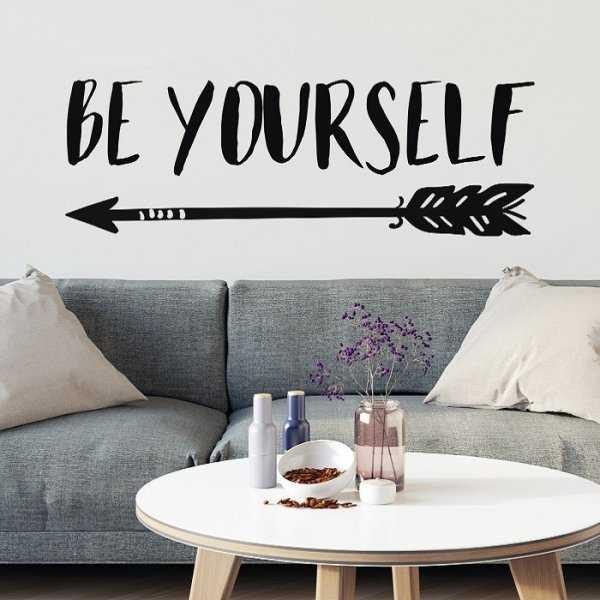 BE YOURSELF - Autorska naklejka ścienna