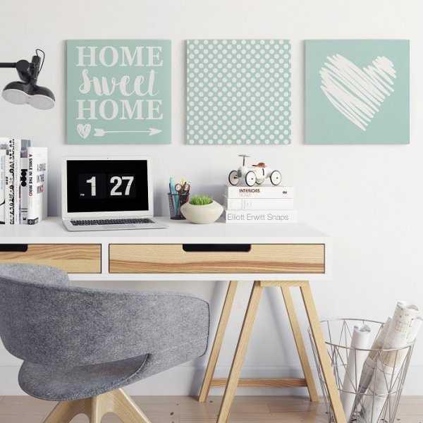 HOME SWEET HOME - Komplet trzech obrazów