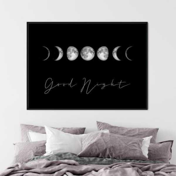 plakat w ramie moon light