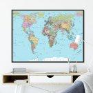 mapa polityczna świata plakat