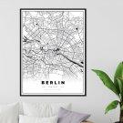 plakat mapa berlina