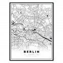 plakat z mapą berlina