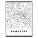 plakat mapa Białystok