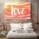 ABSTRAKCYJNE LOVE - Obraz na płótnie