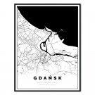 plakat mapa gdańsk