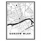 plakat mapa Gorzów