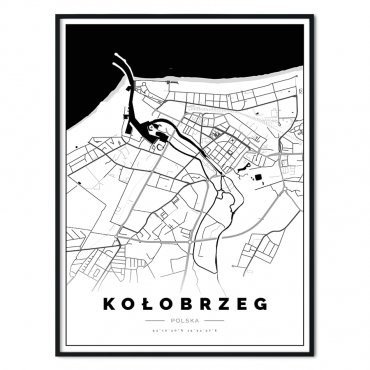 plakat z mapą kołobrzegu