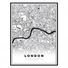 plakat mapa Londyn
