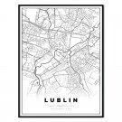 plakat mapa Lublin